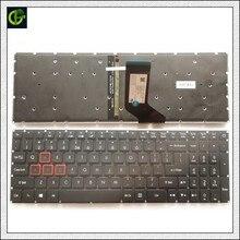 Nowy podświetlany angielski klawiatura do Acer Aspire VX5 591G VX15 VX5 793 VN7 593 VX5 591 VN7 793 VN7 593G VN7 793G N16W3 N16W4 z nami