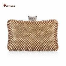 Neue frauen Handtasche Luxus Voller Diamanten Perlen Partei Kupplung Abendtaschen Legierung Kette Schulter Handtasche Damen Erfasst