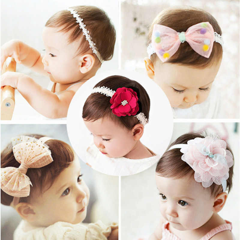 2018 korean Baby girls headband newborn fabric flowers for headbands DIY jewelry photographed photos Children hair accessories