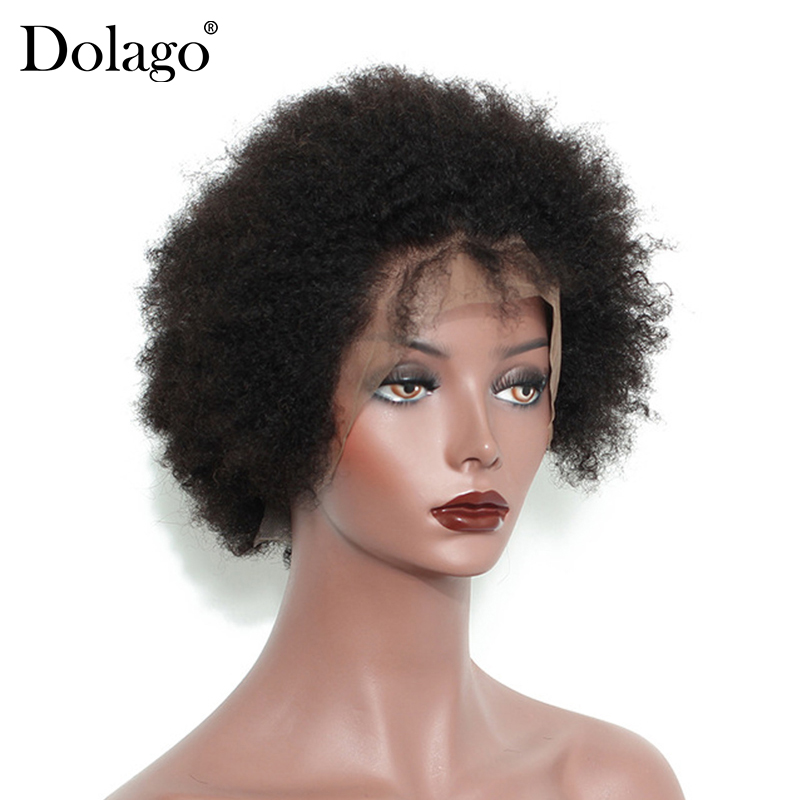 Монгольские афро кудрявые кружевные передние человеческие волосы, парики из коротких человеческих волос, парики из фронта Боба, предварите... - 2