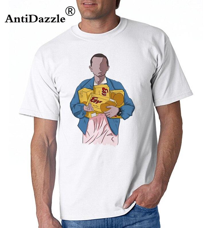 2018 Men Montauk TV Characters ElevenT Shirt Stranger Things T Shirt Summer Style Short Sleeve Eleven T-shirt