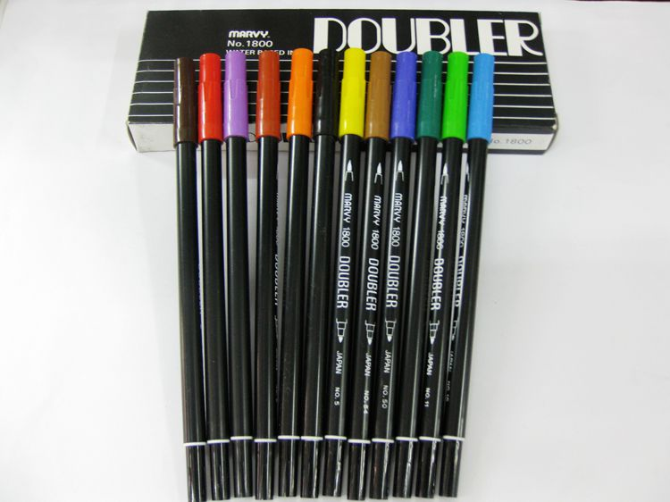 Good Quality!!!  MARVY double sides 1800 watercolor brush art markers,good partner of your art work зонт edmins umbrellas 301 301 62