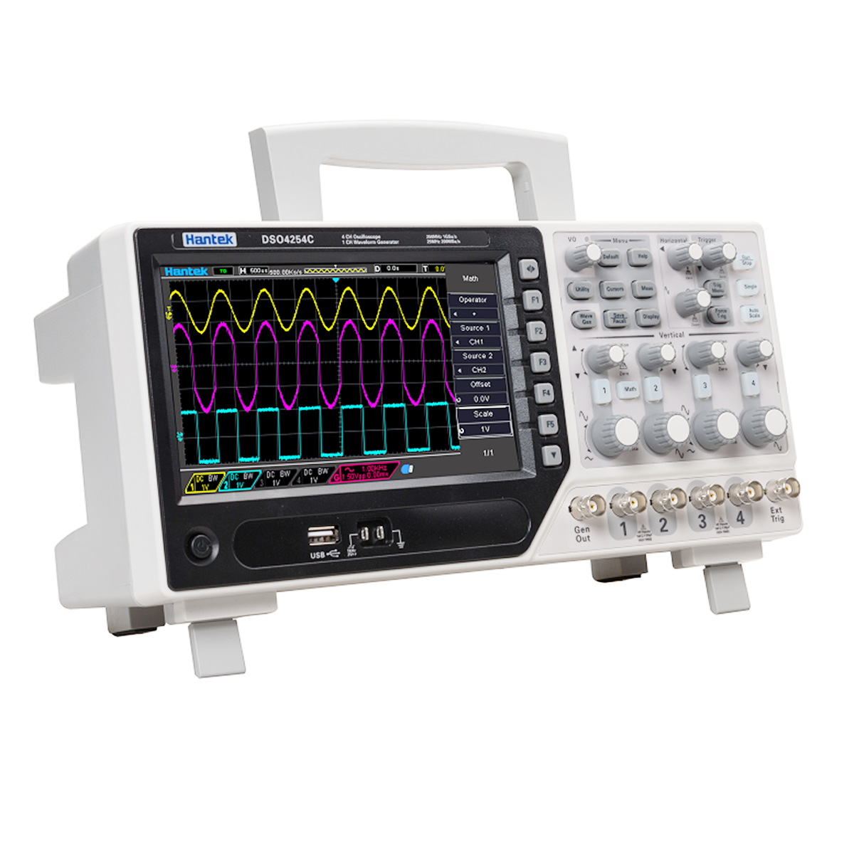 Buy O105 Hantek Dso4084c Bench Type Oscilloscope Power Suppy Adjustable 0 8211 300v 4ch 80mhz Bandwidth 500uv Div 1gs S Sample Rate Waveform Generator From Reliable