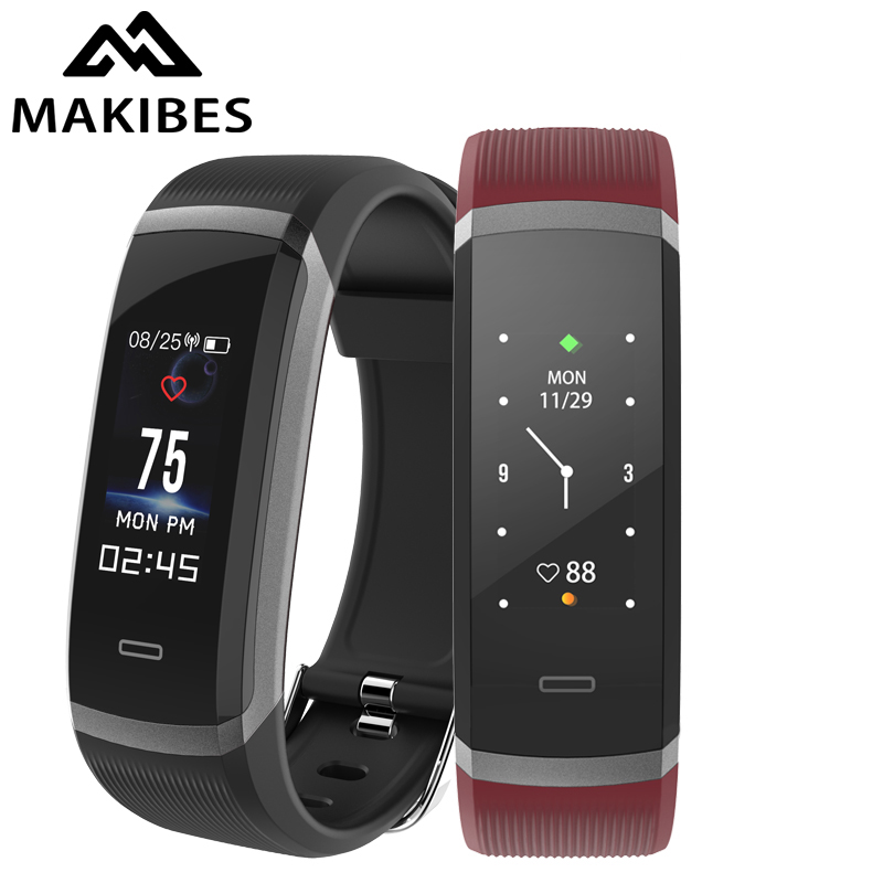 Makibes HR3 men Smart Wristband Color Screen Bracelet Continuous Heart Rate Monitor Health Watch Fitness Tracker