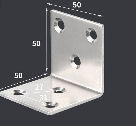 50*50*50mm ze stali nierdzewnej stałe meble narożne uchwyty 90 stopni połączenia akcesoria kąt żelaza ze śrubą grubość: 2mm