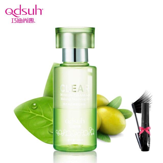 Qdsuh ясно влаги глаз и губ 50 мл снятие макияжа масло для снятия макияжа очищающая жидкость натуральный нежный уход за кожей продукты