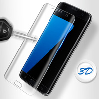 3D 9H Screen Protector Tempered Glass On The For Samsung Galaxy S8 S8 Plus HD Plating