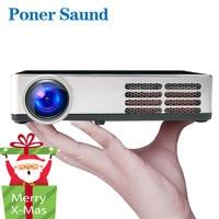 Poner Saund DLP600WIFI Mini projector Portable DLP Full 3D Android Bluetooth 1280*800 WIFI Digital Home theater 1080P HDMI USB