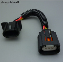 shhworldsea 1pcs New 9008 H13 Headlight Extension Socket Connector Plug CERAMIC car light source styling