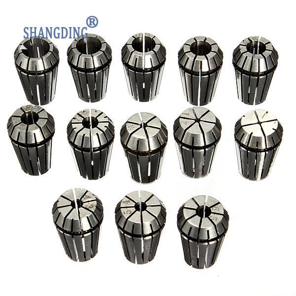 13PCS ER20 HSS Spring Collet Set for CNC Milling Engraving Machine Lathe Tool Best Promotion  9pcs lot er32 spring collet set for cnc engraving machine and milling lathe tool 2 20mm
