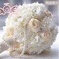 В арабском стиле Люкс Для Невесты Цветок свадебный букет искусственный цветок розы свадебные букеты С жемчугом Кристалл