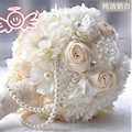 Arabic style Bridal Bridesmaid Flower wedding bouquet artificial flower rose bridal bouquets With pearls Crystal