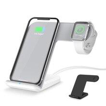 цены на 2 in 1 Wireless Charger Dock QI Wireless Charging Stand Holder For iPhone Samsung Galaxy S9 For Apple Watch iwatch 3 2  в интернет-магазинах