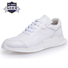 Genuine Leather casual shoes mens white breathable sneaker fashion boots men Leisure British retro all-match cowhide