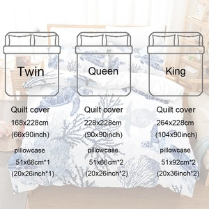 Image 5 - Boys Gift Sea Turtle Comforter Cover Bed Duvet Cover Set Kids Bedding Linens Set Soft and comfortable Bedclothes US Twin Queen