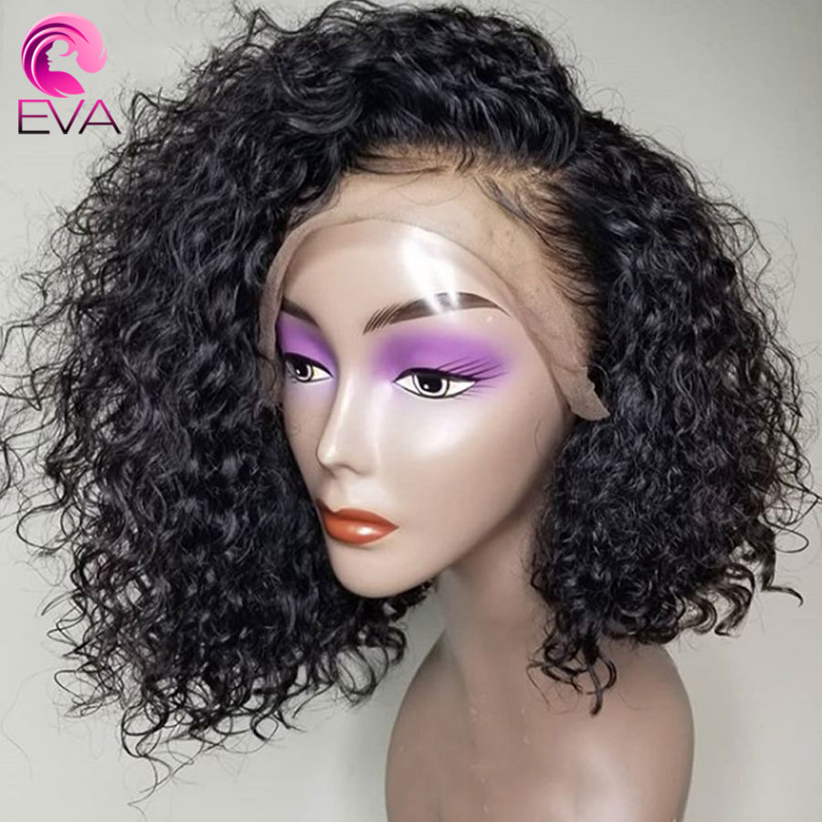 Eva Hair 150% Density Lace Front Human Hair Wigs 13*6 Deep Parting Curly Wig With Baby Hair Brazilian Remy Hair Bleached Knots