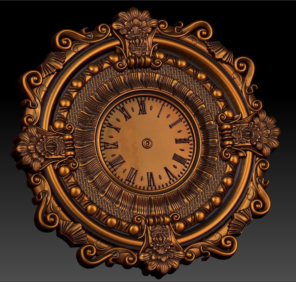 Digital File In STL Format Clock For CNC 3D Relief Carving Engraving C36-4