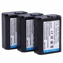 Akku para Sony 3pcs2000mah Baterias Np-fw50 Npfw50 Bateria Alpha Nex-3 Nex-3a Nex-5r Nex-6 Nex-7 Nex-5n Nex-f3 Slt-a37 A7 7R II