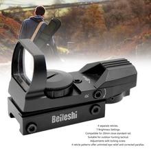 BEILESHI 20mm Rail Riflescope Hunting Airsoft Optics Scope Holographic Red Dot Sight Reflex 4 Reticle Tactical Gun Accessories цена