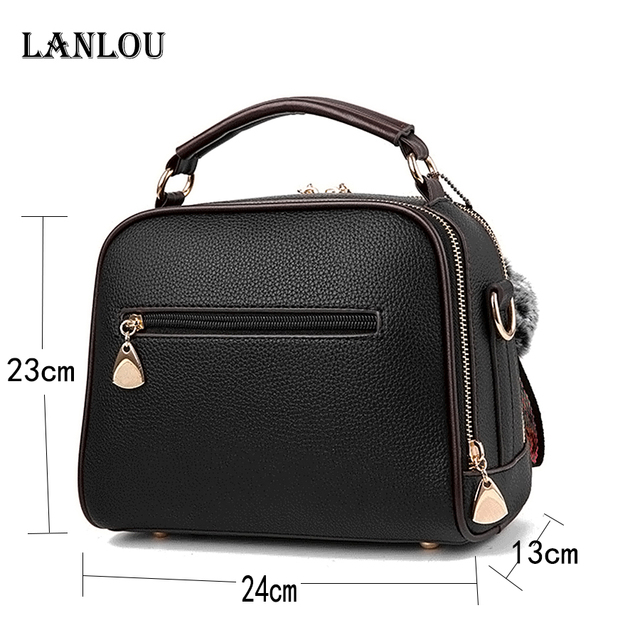 Womens luxury shoulder bag with Hairball Casual cross-body bag for women 2