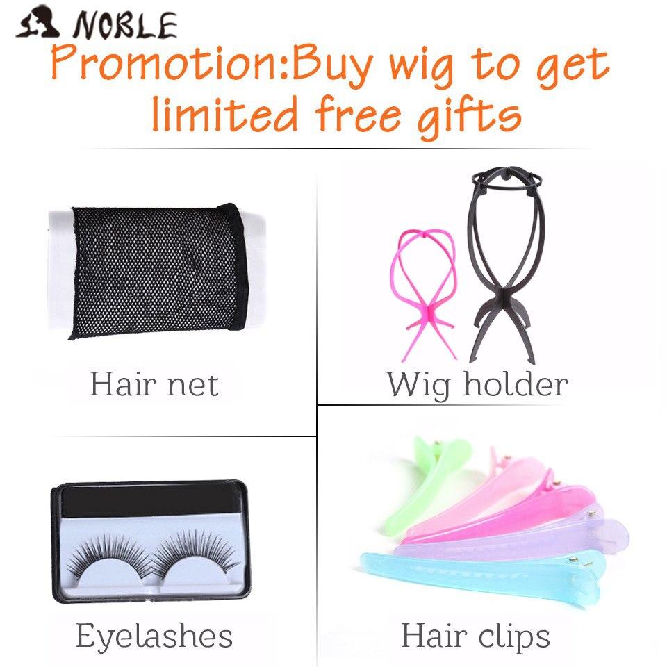 Noble Lace Front Wig Kort Loose Wave Syntetiskt Hår 16 tums paryk - Syntetiskt hår - Foto 6