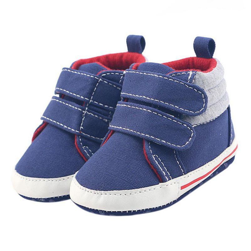 2017 Infant Boot Baby Shoes Boys Navy Blue Hook&Loop Shoes Baby Girl Toddler First Walkers Autumn Winter
