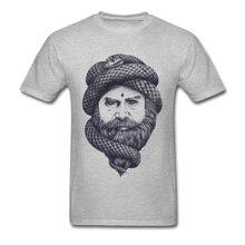 74949f0b248 Mind Control T Shirt Men Arab Style T-shirt Snake Tshirt Print Unique  Streetwear Hip