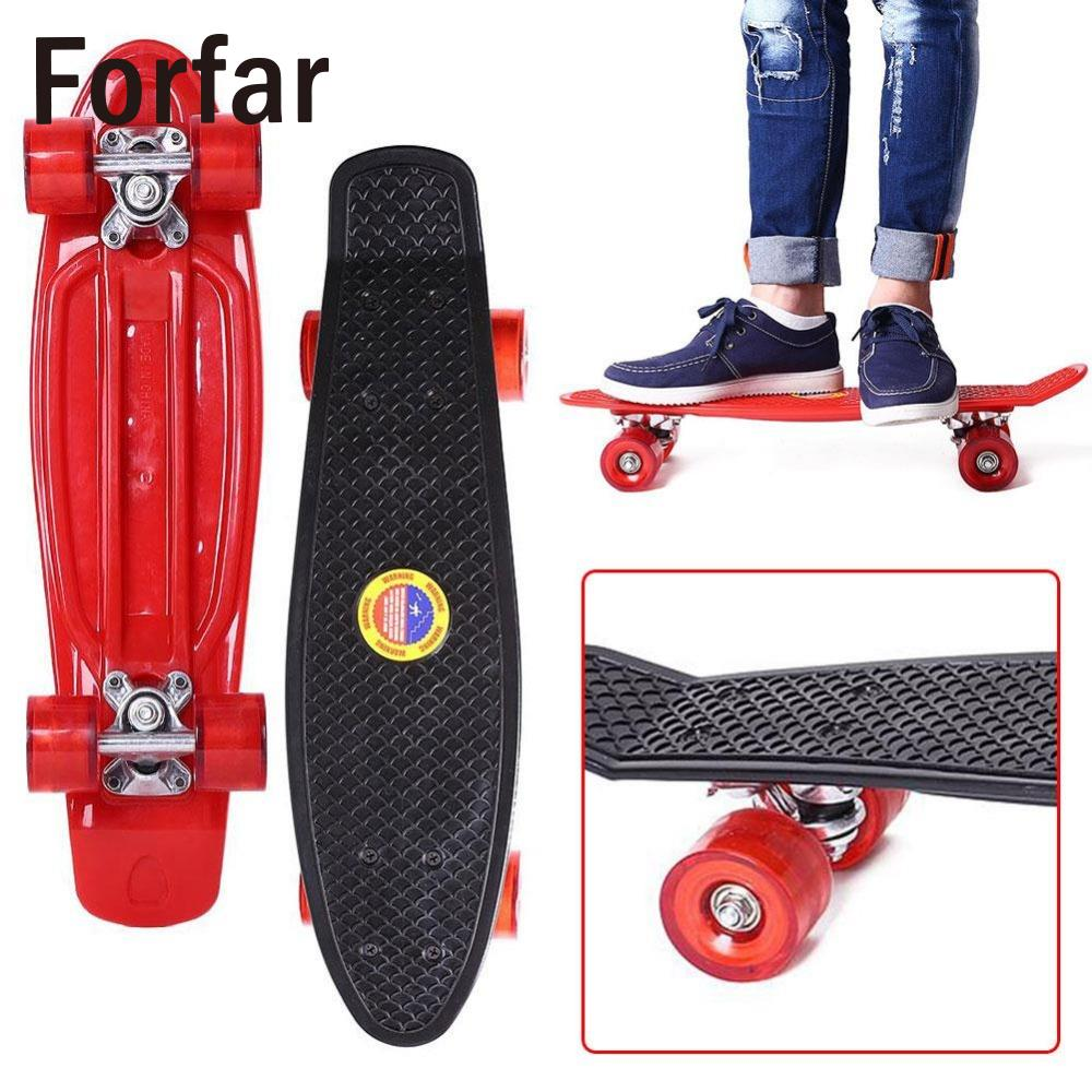 Forfar 22 Inches Four-wheel Street Long Skate Board Mini Cruiser Skateboard For Adult ChildrenForfar 22 Inches Four-wheel Street Long Skate Board Mini Cruiser Skateboard For Adult Children