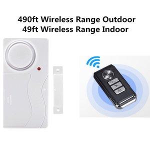 Image 2 - Door Window Entry Security ABS Wireless Remote Control Door Sensor Alarm Host Burglar Security Alarm System Home Protection Kit