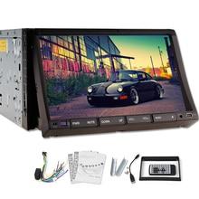 2 Din En El Tablero GPS Navi Stereo Reproductor de DVD FM AM Radio Control Del Volante Del Coche