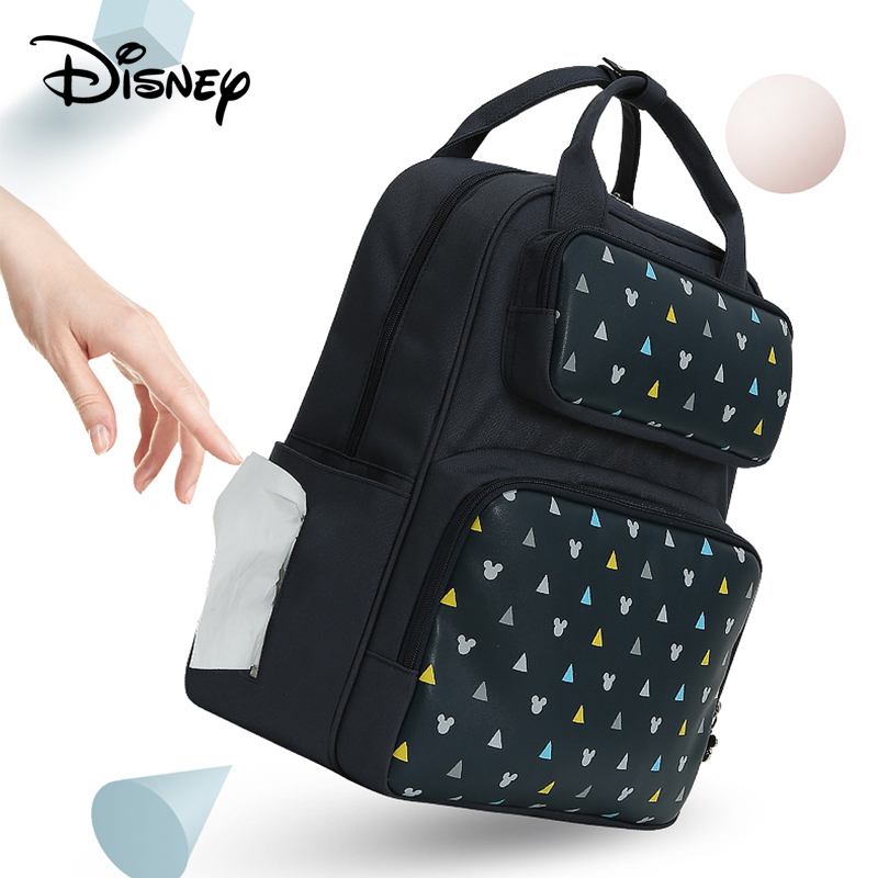 Disney USB Diaper Bag Baby Care Backpack Mummy bag Maternity Wet Bag Waterproof Baby Pregnant Bag Fashion large capacity