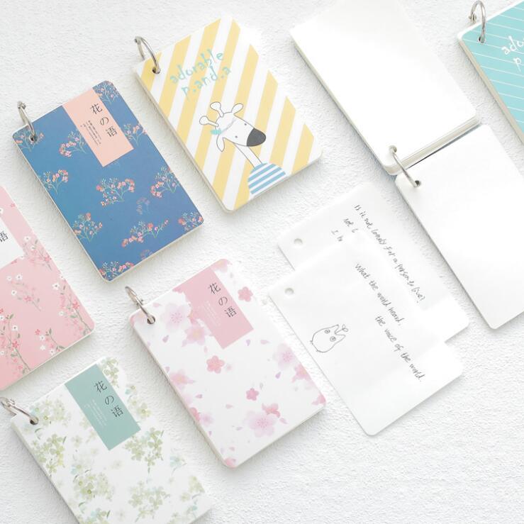 1 Piece Kawaii Cartoon Animal Coil Mini Pocket Blank Graffiti Notebook Vocabulary Study Book Daily Memo Notes Tabs Planner