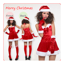 Christmas Party Costumes Dress Cosplay Backless Halter Sexy Lingerie Christmas Costume For Women