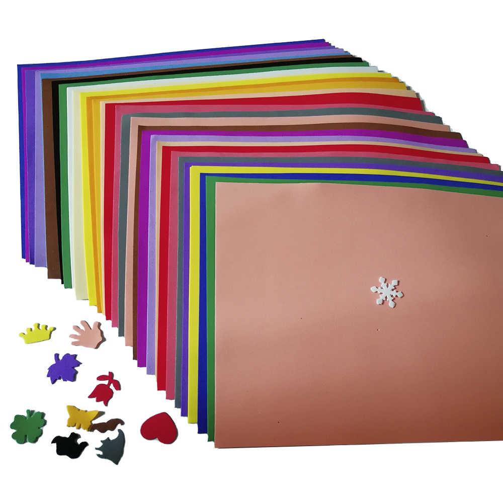 30 Lenzuola Foamiran Forniture Fai Da Te 21x29 Cm Spugna Fiore di Carta Prop Multicolor Schiuma di Carta del Mestiere di Scrapbooking FAI DA TE decorazione