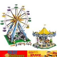 LEPIN 15012 City Expert Ferris Wheel 15036 Carousel Model Blocks Bricks Toys Christmas Gifts Compatible LegoINGlys10247 10257