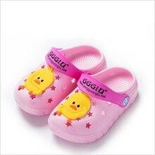 Summer Fashion Cartoon Cave Children slippers Boys Girls Cute Bow Slippers Kids Unisex Baby Beach
