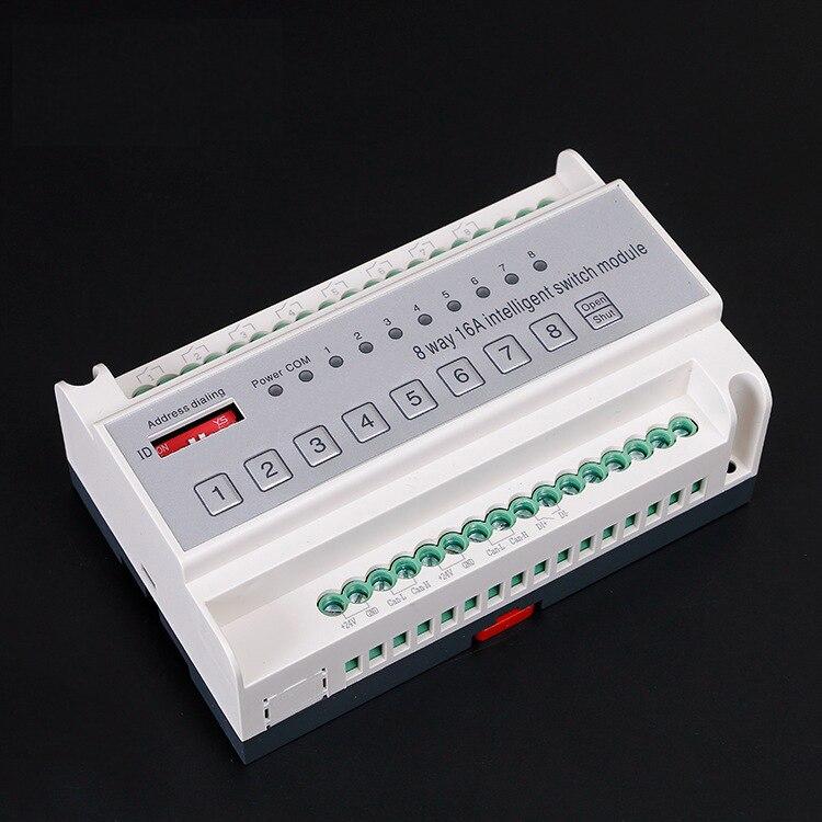 8 канальный 16A Интеллектуальное освещение умный модуль переключения модуль управления освещением интеллектуальная система освещения