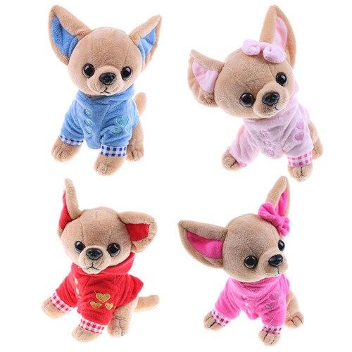 1pcs 17cm Chihuahua Puppy Kids Toy Kawaii Simulation Animal Doll Birthday Gift for Girls Children Cute Stuffed Dog Plush Toy(China)