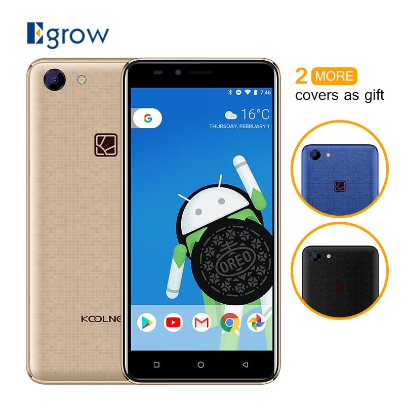 Koolnee Regenbogen 5,0 zoll Android 8.1 1 gb RAM 8 gb ROM 3g Smartphone MTK6580 Quad Core 2400 mah Batterie 8MP + 5.0MP Handy