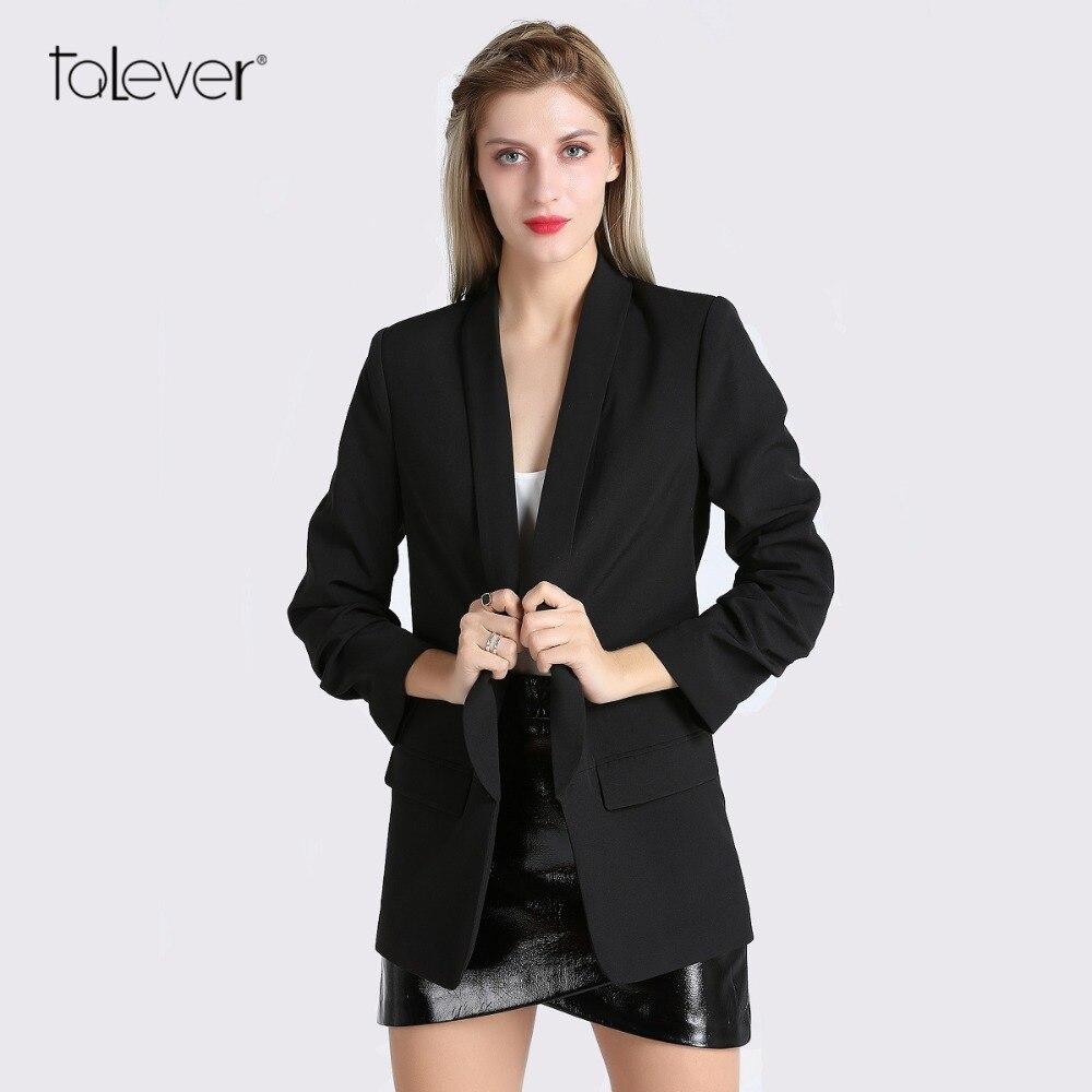Spring Women Blazer Jacket Fashion 2018 Brand None Button Work Office Lady Suit Casual Slim Business Female Blazer Coat Talever 1