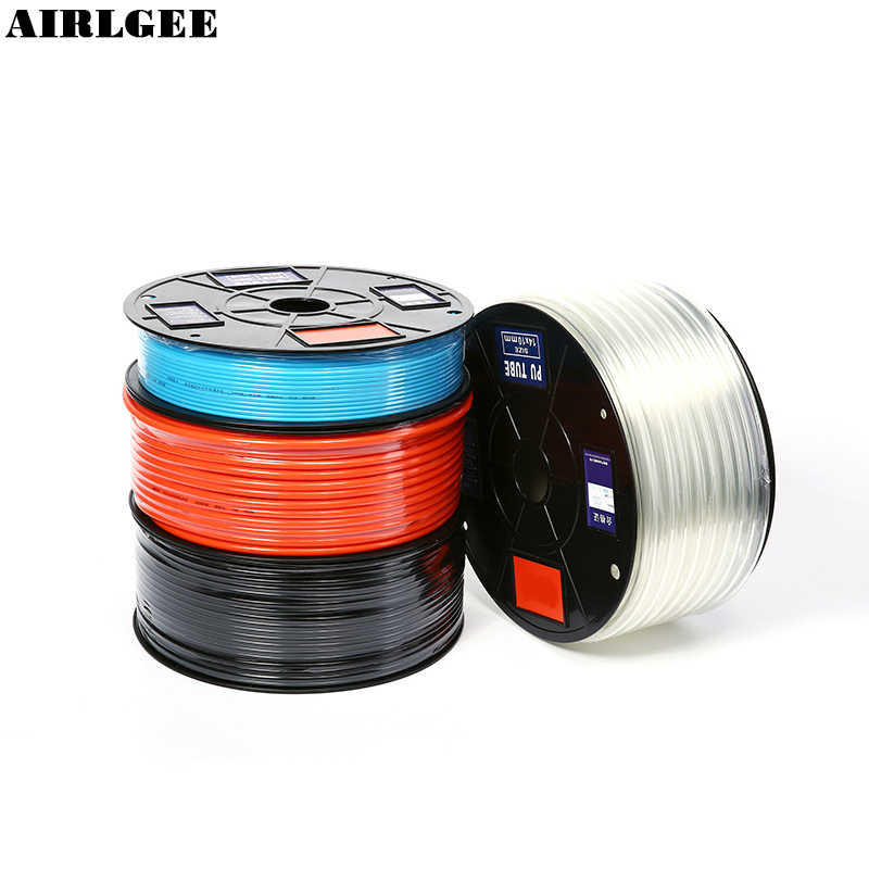 Wholesale 1 Meter High pressure Pneumatic Component PU Tube 4/6/8/10/12mm OD Air Line Polyurethane Hose for Compressor high quality valianto red color air pu buis pneumatic components pneumatic hose pipe tube id 2 5 mm od 4 mm 200 meter