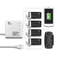 DJI Mavic Air Charger 6IN1 Charging 4 Battery + 2 USB Port Intelligent for DJI Mavic Air Accessories Drone Remote Control Phone