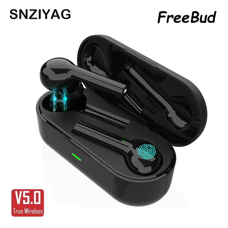 SNZIYAG JS-18 FreeBud Bluetooth Сенсорный Hifi наушник с микрофоном TWS беспроводные наушники стерео микрофон для телефона с зарядным устройством