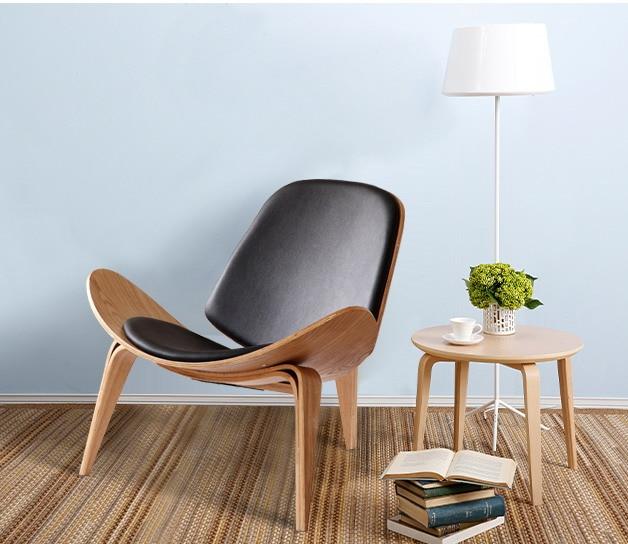 € 471.12  Minimaliste design moderne bois chaise longue salon Design moderne loisirs chaise longue en bois pad naturel noyer chaise en bois dans