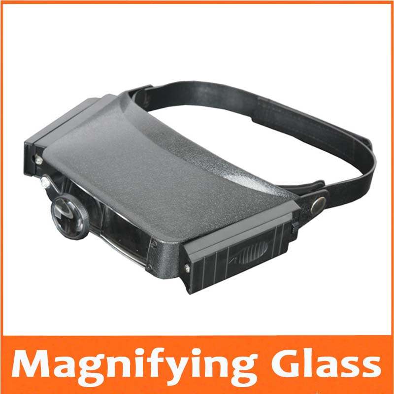 New 1.5x 3x 6.5x 8x Magnifying Glass Head Headband Helmet Magnifier Glasses Loupe Head Magnifier With LED Light for Old Man
