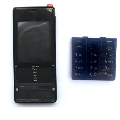 New Full Housing Cover Case for Nokia 515 +Keypad Black