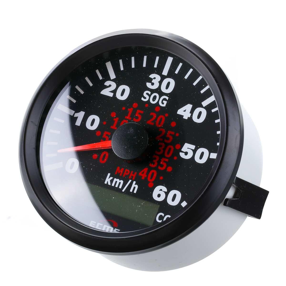 85mm Auto Car Truck Marine GPS Speedometer Waterproof Speed Sensor Meter Gauge Digital Odometer Automobiles Replacement Parts 6
