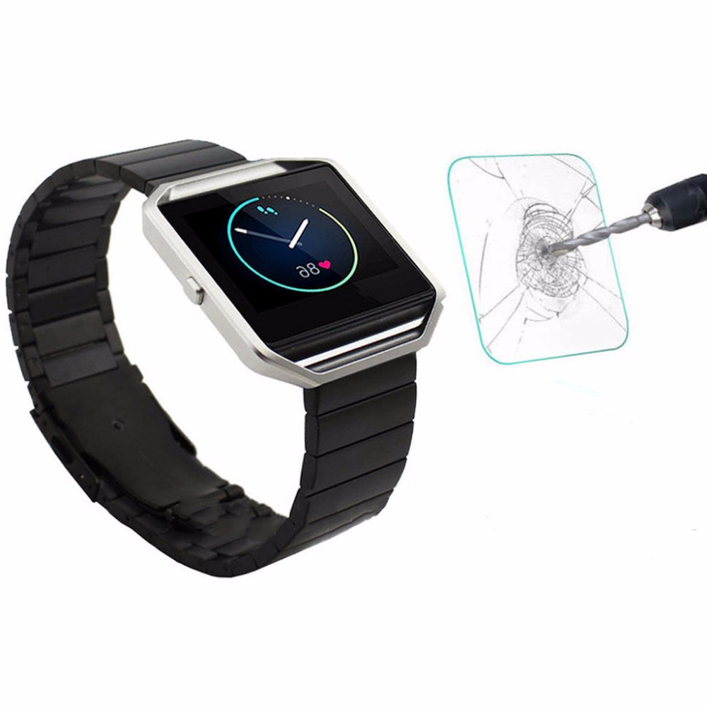 online store e1e7d ffb8b US $1.53 18% OFF|For Fitbit Blaze Smart Tempered Glass For Fitbit Blaze  Smart Screen Protector Cover Protective Film Case For Fitbit Blaze glass-in  ...