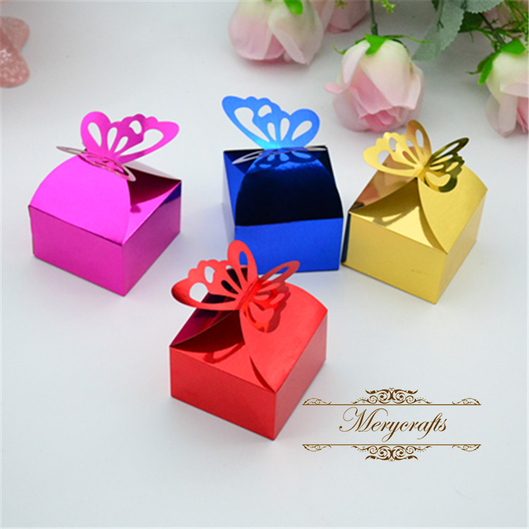 Laser Cut Paper In Crafts Butterfly Indian Wedding Favor Sweet Boxes