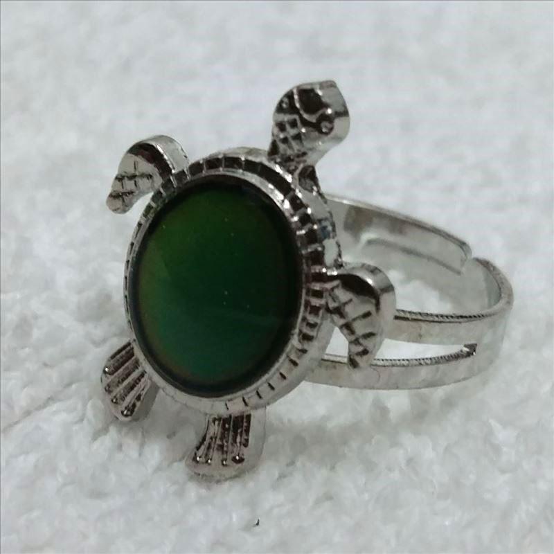 Ekskluzywny pierścionek s żółw osobowości regulowany pierścień żółw temperatury ekskluzywny pierścionek w Pierścionki od Biżuteria i akcesoria na  Grupa 1